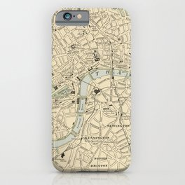 Vintage Map of London England (1901) iPhone Case