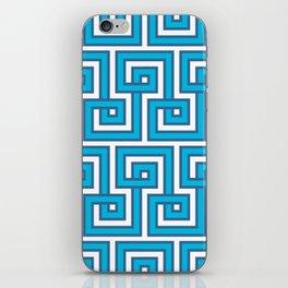 Greek Key - Turquoise iPhone Skin