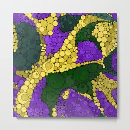 Gold river - abstract pattern Metal Print