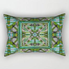 no.121 green and blue pattern Rectangular Pillow