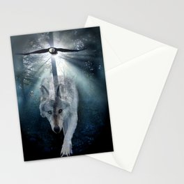 The Gathering - Wolf and Eagle Stationery Cards