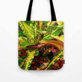 Tropical Croton Plant Tote Bag