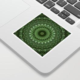 Mandala in olive green tones Sticker