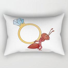 ant with big ring Rectangular Pillow