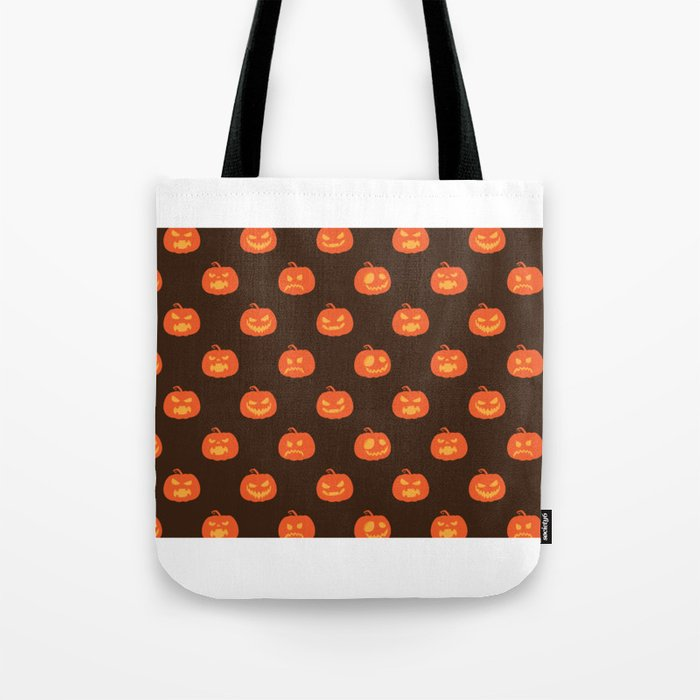Scary Pumpkins - Halloween Day Tote Bag