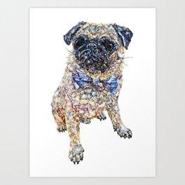 Winston the Pug Art Print