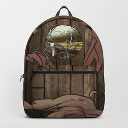 Halloween Harvest Spirits of Growth and Decay - pumpkin spoopy spirited ghost fall dark magic Backpack