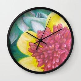 Portulaca Wall Clock