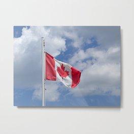 Maple Leaf Flag Metal Print