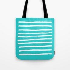 Simple Stripes - Aqua Tote Bag