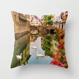 Annecy France Throw Pillow