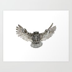 Inked flight Art Print
