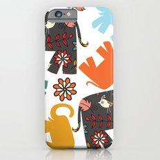 Elephants pattern #4SD iPhone 6s Slim Case
