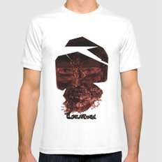 Tornface White Mens Fitted Tee MEDIUM