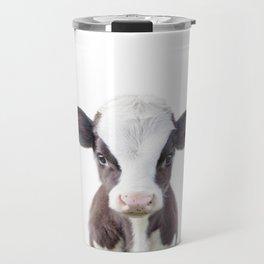 Baby Cow Portrait Travel Mug
