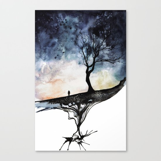 Underneath Canvas Print