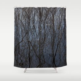 Flooded trees Shower Curtain