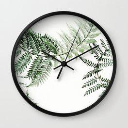 Watercolor plant Wall Clock