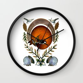 The Fox Lay Dying Wall Clock