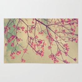 Vintage Pink Dogwood Tree in Flower Rug