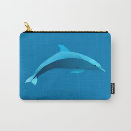 Geometric Dolphin - Modern Animal Art Carry-All Pouch
