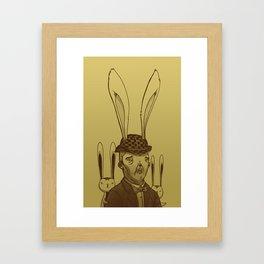 The Rabbit Man Framed Art Print
