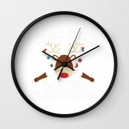 This Girl Loves Christmas Wall Clock