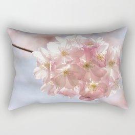 Branch of Cherry Blossom - Pink flowers Rectangular Pillow