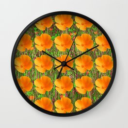cali poppies. 2e Wall Clock