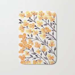 Cherry Blossoms – Yellow Palette Bath Mat