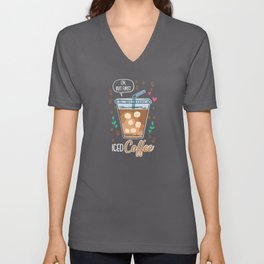 Ok, But First Iced Coffee - Gift Unisex V-Neck