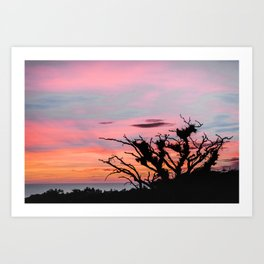Small Town Sunsets02 Art Print