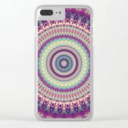 Mandala 524 Clear iPhone Case