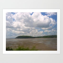 Bright Llansteffan Art Print