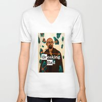 broken V-neck T-shirts featuring Broken by James M. Fenner