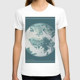 Hong Kong Map Planet T-shirt
