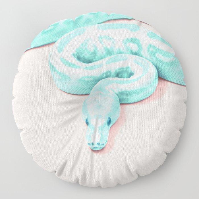 GREEN SNAKE Floor Pillow