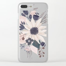 Wnifred flowers 2 Clear iPhone Case
