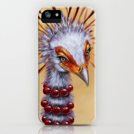secretary bird iPhone Case