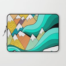 Waves of the mountains Laptop Sleeve