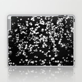 Black Night Glitter Stars #1 #shiny #decor #art #society6 Laptop & iPad Skin