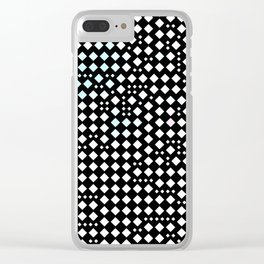 Black triangular pattern Clear iPhone Case