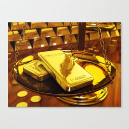 Gold investment Canvas Print