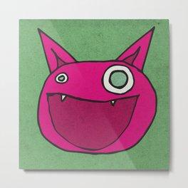 Slightly Amused Monsters, IX Hot Pink Metal Print