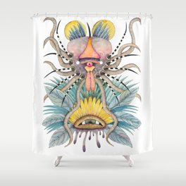 Crab-Insect facing the eye Shower Curtain