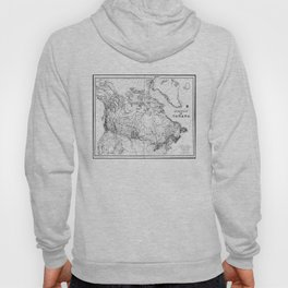 Vintage Map of Canada (1898) BW Hoody