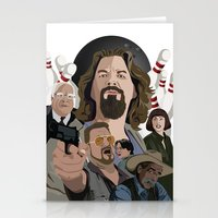 the big lebowski Stationery Cards featuring The Big Lebowski by Chad Trutt