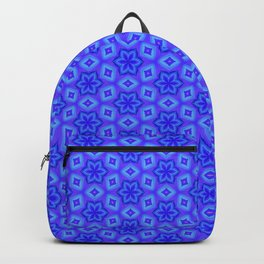 Pretty Feminine Flower pattern in blue, purple, lavender, teal Backpack