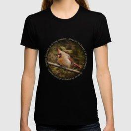 Female Cardinal Bird T-shirt