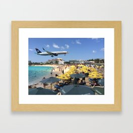 Landing at Maho Beach Framed Art Print